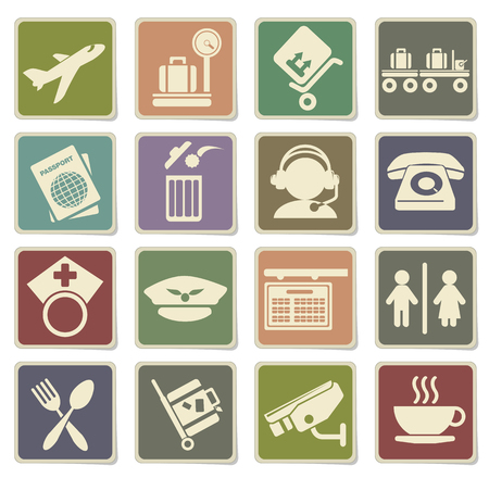 airplane mode: Airport icon set in eps 10 Illustration