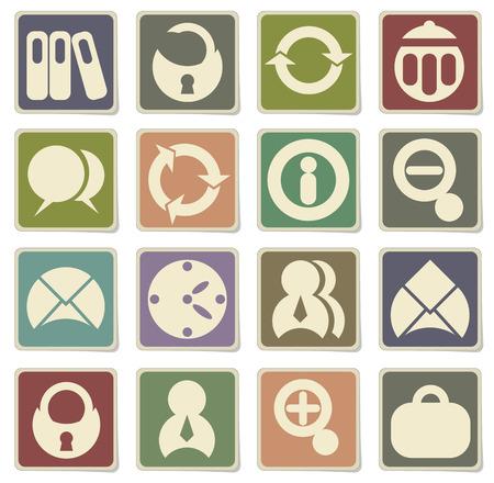 ring binder: black office icons set in eps 10