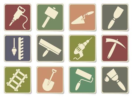 platen: Symbols of building equipment in eps 10 Illustration