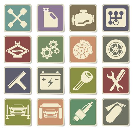 services: Auto Service Icons in eps 10