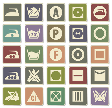 clothes washer: Laundry Sign Silhouette Icons