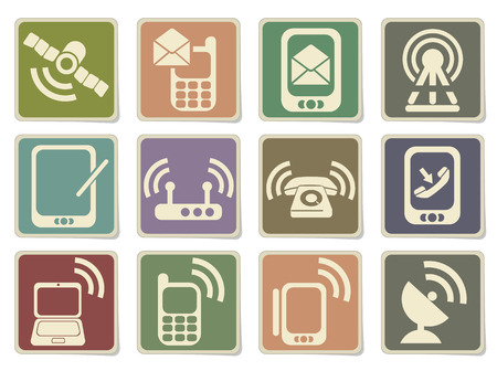 communications tower: Mobile Icons in eps 10
