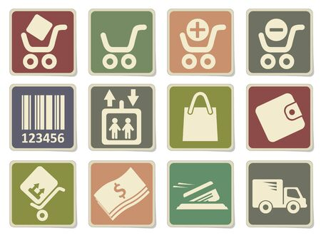 paper currency: Shopping icons in eps 10 Illustration