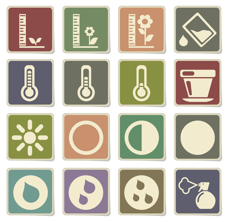 penumbra: Plant Growing Sign Silhouette Icons in eps 10