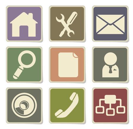 site: Web site vector icon set
