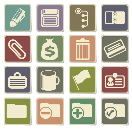note pad and pen: Office simple vector icons in eps 10