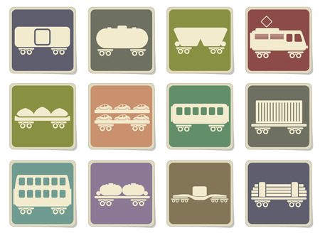 storage tank: rail-freight traffic icons in eps 10
