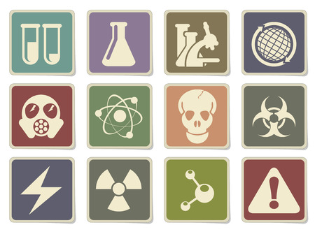 gas mask warning sign: Science Symbols in eps 10