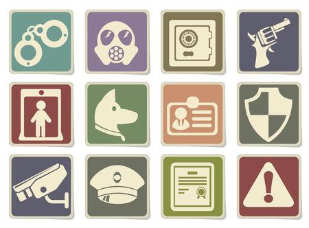 gas mask warning sign: Security symbols in eps 10 Illustration