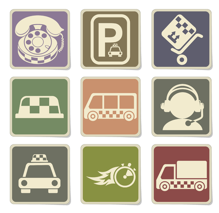 parking disk: Symbols of taxi services