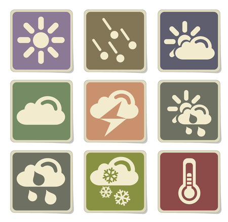 blizzards: Weather simple vector icons