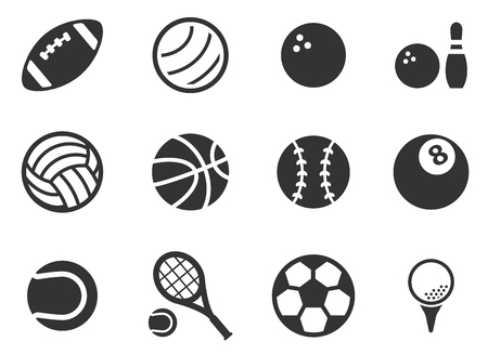 player: Sport balls simply icons Illustration