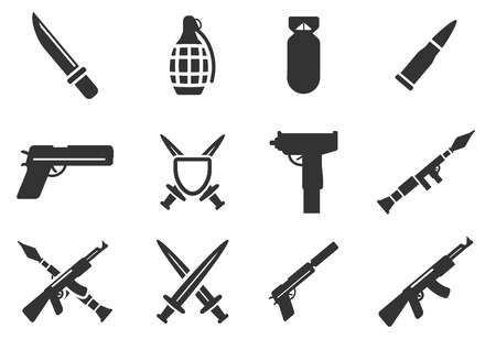 frag: Weapon simply icons Illustration