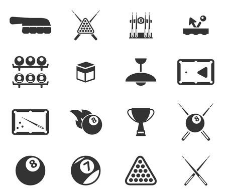 pool cues: Billiards simply icons