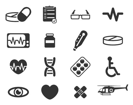 cardiograph: Medical simply icons Illustration