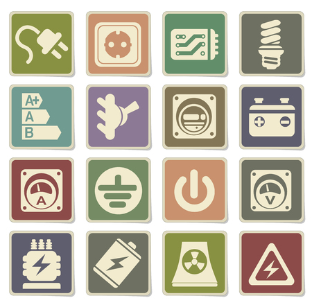 power icon: Electricity icon. simply symbol for web icons Illustration