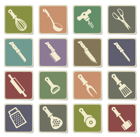 slotted: kitchen tools. simply symbol for web icons