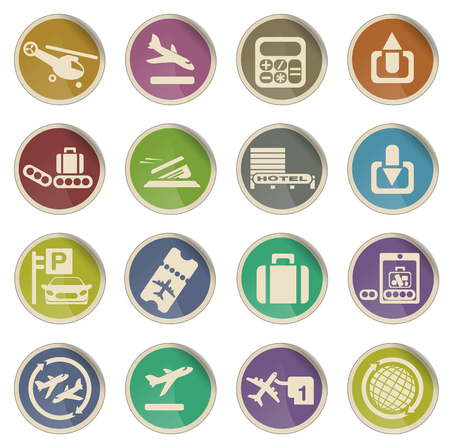 first plane: Airport. simply symbol for web icons Illustration