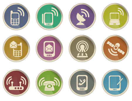 telecommunications equipment: Mobile Icons