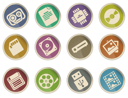 carriers: information carriers icon set