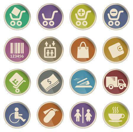 removing: Shopping vector web icon set