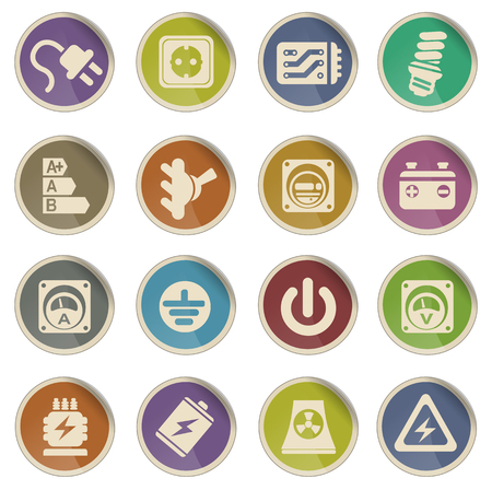 central hidroelectrica: Electricity icon vector web icon set