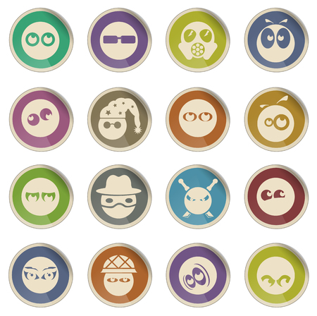 character traits: Emotions and glances vector icons