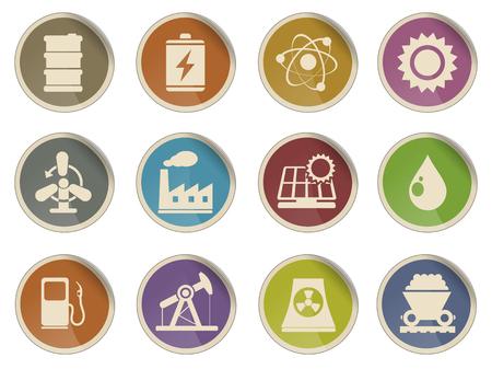 Icon Set, Energie en Industrie Stockfoto - 46694212