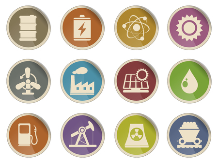 energy supply: Icon Set, Energy and Industry