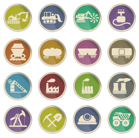 industry icons: Factory and Industry simply symbol for web icons Illustration