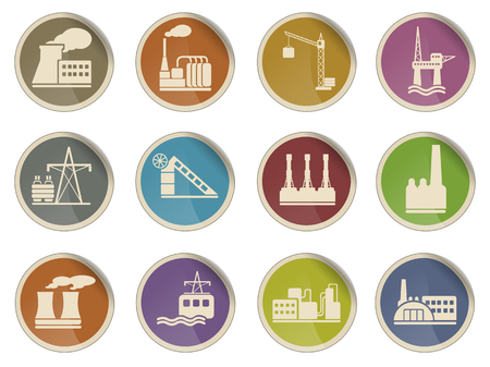 industry icons: Factory and Industry Web icons