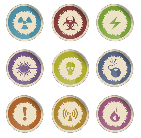 hazardous waste: Hazard Sign Vector Web icons