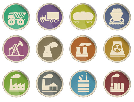 nuclear vector: Factory and Industry Simply Symbols