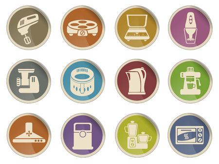 utensils: Kitchen Utensils Web Icon Set Illustration