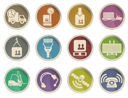 overnight delivery: Logistics vector web icon set