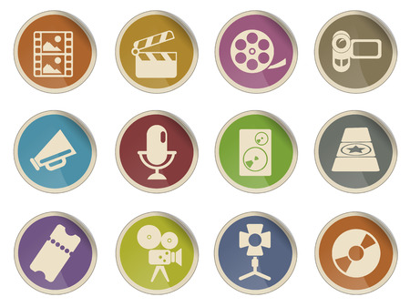 movie theater: Film Industry Web Icon Set
