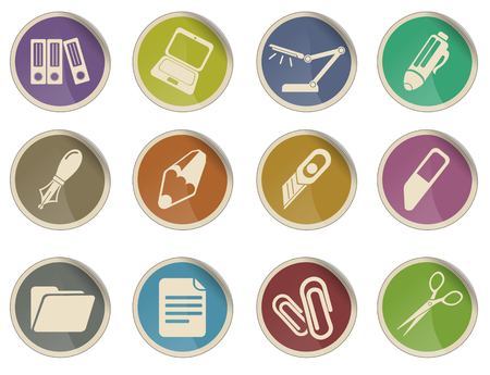 ring binder: Office vector icon set