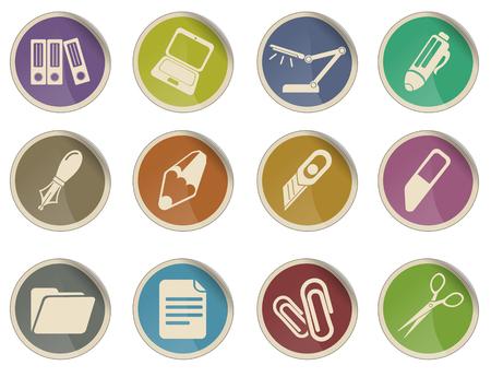 correttore: Ufficio set di icone vettoriali