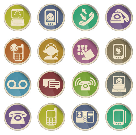 mobile voip: Telephone simply symbol for web icons Illustration