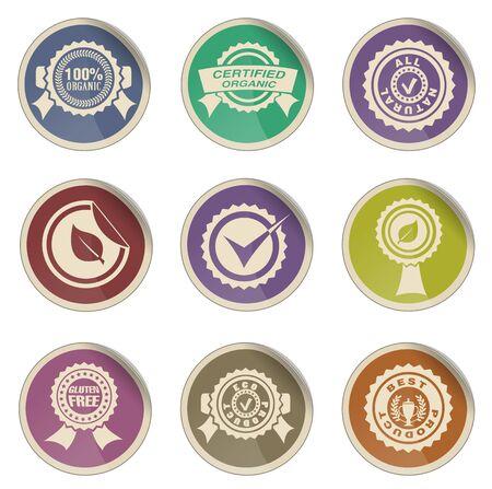 guaranty: Seals  simple vector icon set