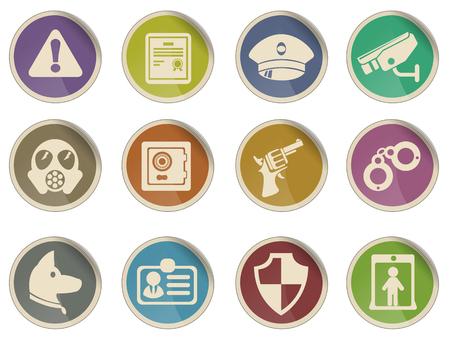 Veiligheid symbolen Stock Illustratie