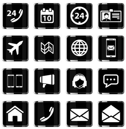 around the clock: Contacts simply symbol for web icons