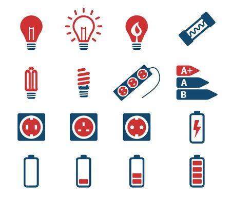 transistor: Electricity simply vector icon set