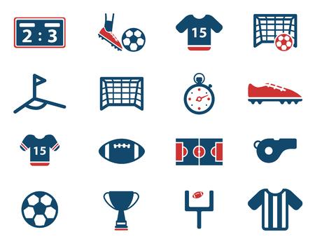 the football player: F�tbol simplemente icono de conjunto de vectores Vectores