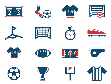 football referee: Football simply vector icon set