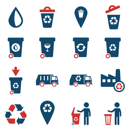 utilization: Garbage simply vector icon set