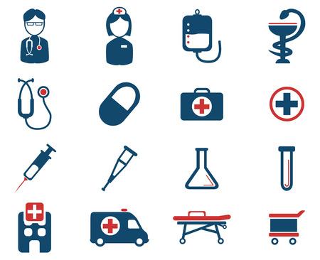 trolley case: Medical simply vector icon set
