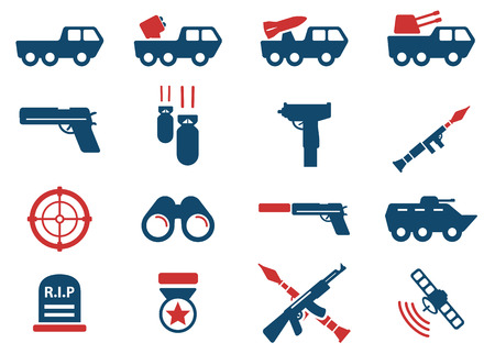 rip: Military simply vector icon set