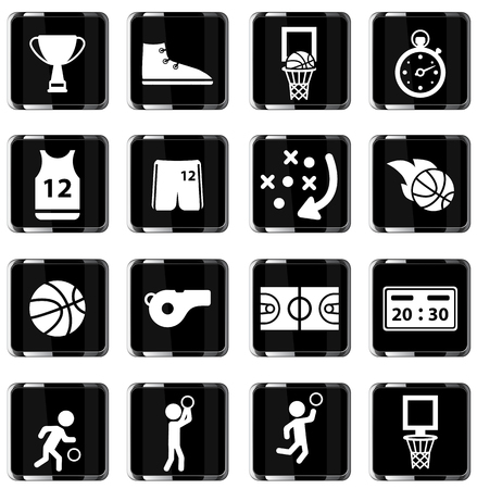 slam dunk: Basketball simply symbol for web icons