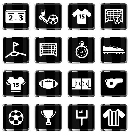 jugador de futbol: F�tbol simplemente icono de conjunto de vectores Vectores